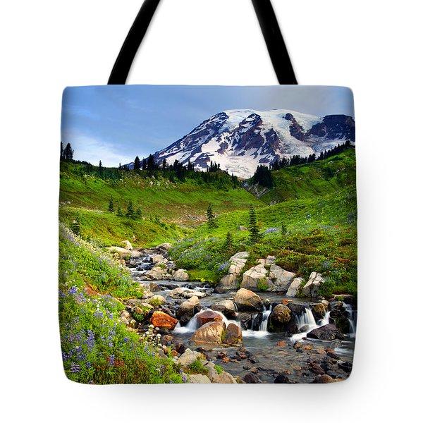 Martha Creek Wildflowers Tote Bag by Mike  Dawson