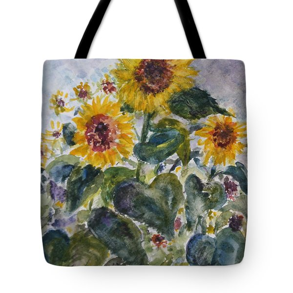 Martha's Sunflowers Tote Bag by Quin Sweetman
