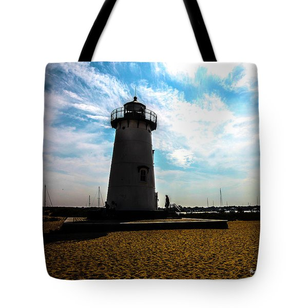 Tote Bag featuring the photograph Martha's Vineyard Lighthouse - Massachusetts by Madeline Ellis