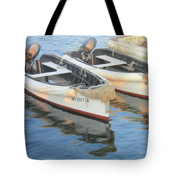 Tote Bag featuring the photograph Martha's Vinyard Skiffs by Roupen  Baker