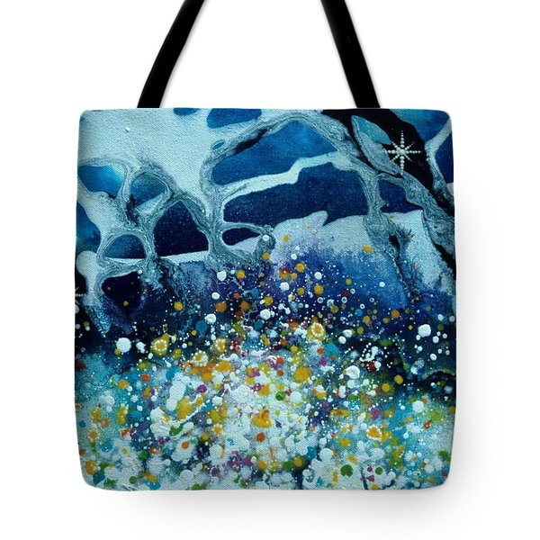 Martian Spring Tote Bag by Lee Pantas