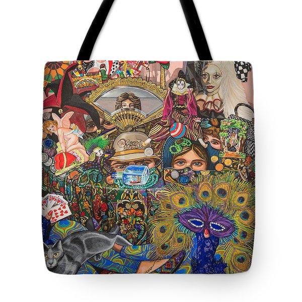Martigras Masquerade Tote Bag by Bonnie Siracusa