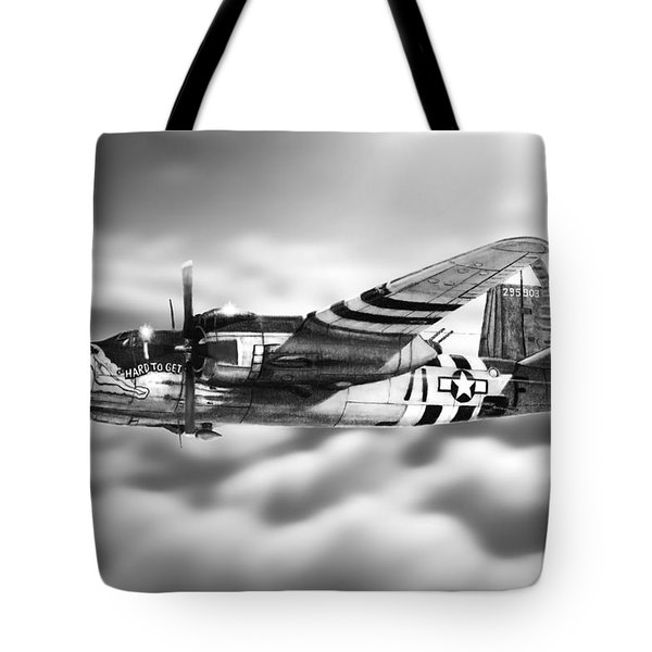 Martin B-26 Marauder Drawing Tote Bag