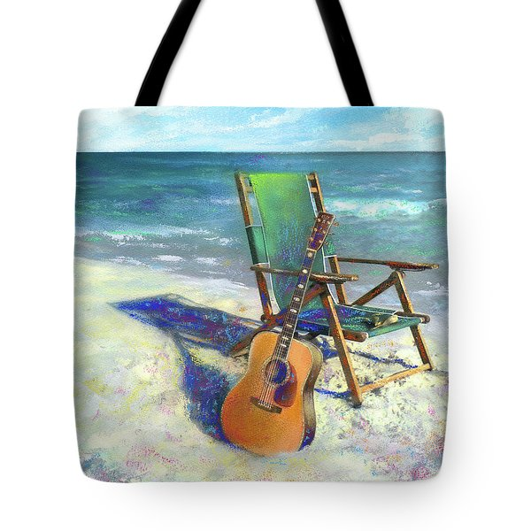 Martin Goes To The Beach Tote Bag