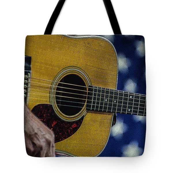 Tote Bag featuring the photograph Martin Guitar 1 by Jim Mathis
