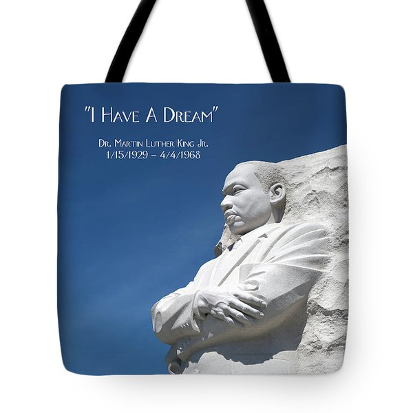 Tote Bag featuring the photograph Martin Luther King Jr. Monument by Steven Frame