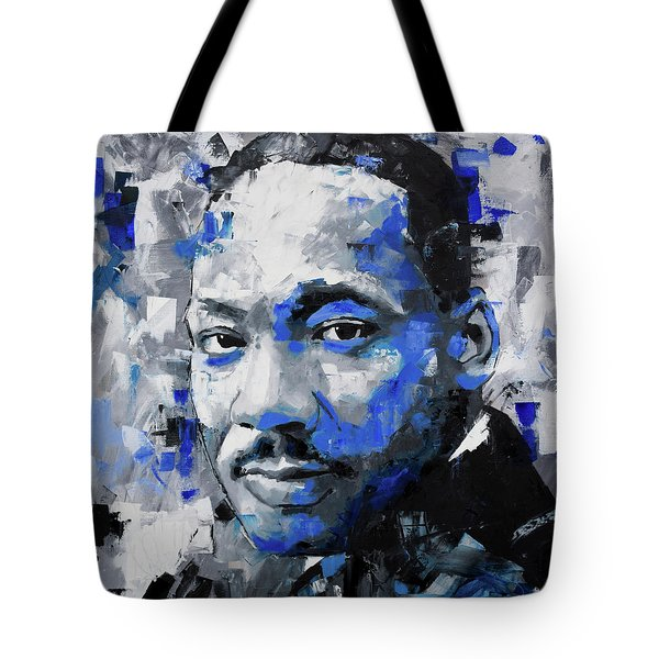 Tote Bag featuring the painting Martin Luther King Jr by Richard Day