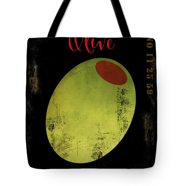 Martini Olive Tote Bag