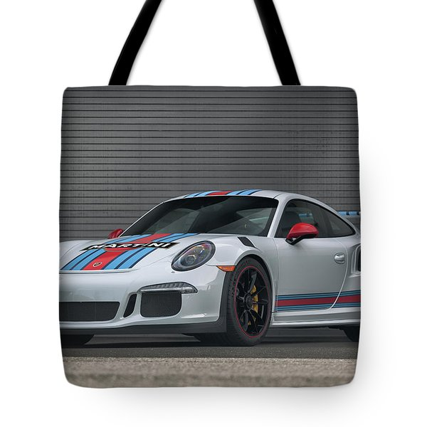 Tote Bag featuring the photograph #martini #porsche 911 #gt3rs #print by ItzKirb Photography
