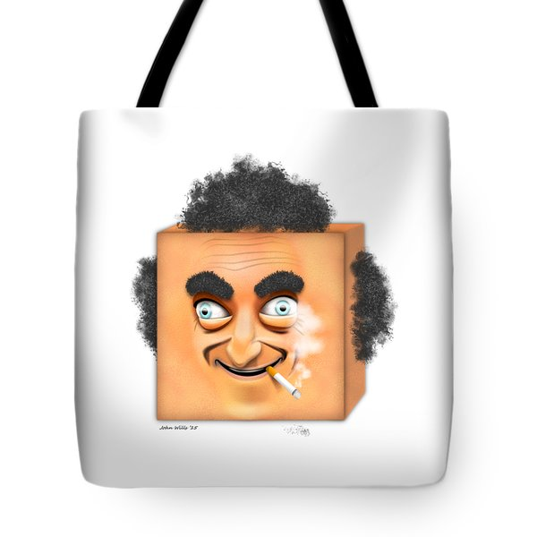 Tote Bag featuring the digital art Marty Feldman Caricature by John Wills