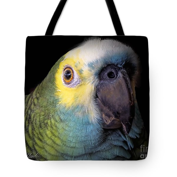 Marty The Blue Front Amazon Tote Bag by Melissa Messick