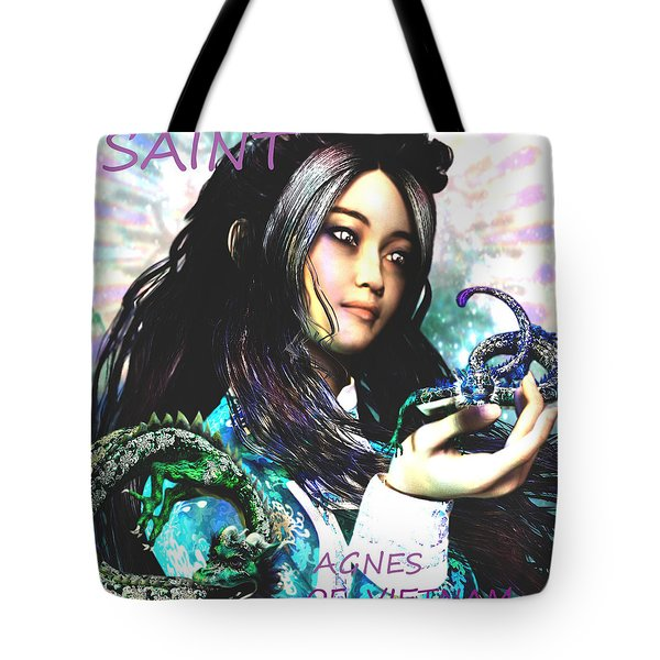 Tote Bag featuring the painting Martyr Of Vietnam Saint Agnes Le Thi Thanh by Suzanne Silvir