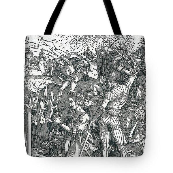 Martyrdom Of Saint Catherine Tote Bag