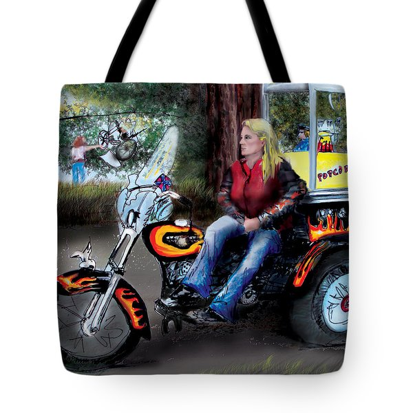Marty's Harley Tote Bag
