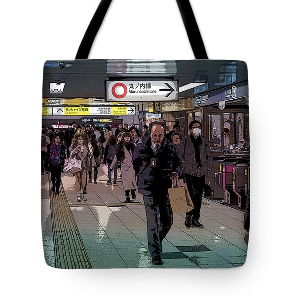 Marunouchi Line, Tokyo Metro Japan Poster Tote Bag