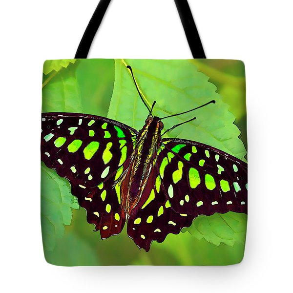Marvelous Malachite Butterfly 2 Tote Bag