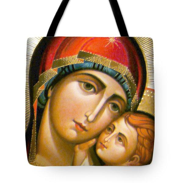 Mary Icon Tote Bag by Munir Alawi