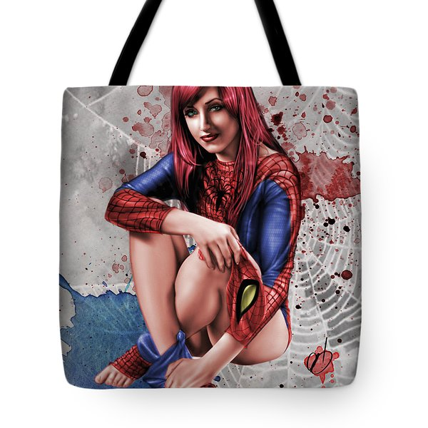 Mary Jane Parker Tote Bag by Pete Tapang