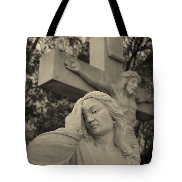 Mary Magdalene At The Crucifixion Tote Bag by Nature Macabre Photography