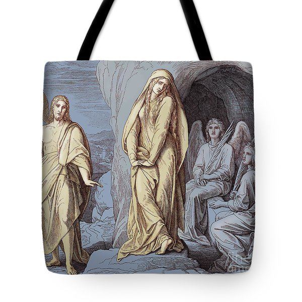 Mary Magdalene At The Tomb Of Christ, Gospel Of John Tote Bag