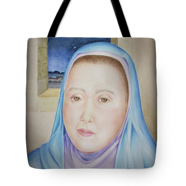 Tote Bag featuring the painting Mary Waits At Easter Dawn by Michele Myers