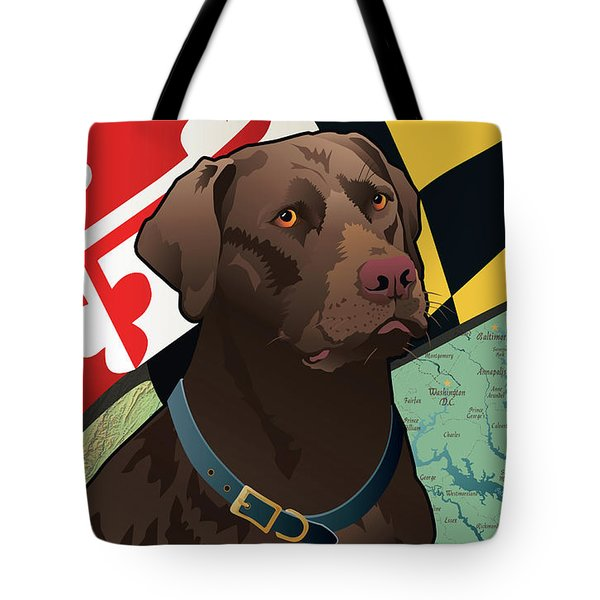 Maryland Chocolate Lab Tote Bag