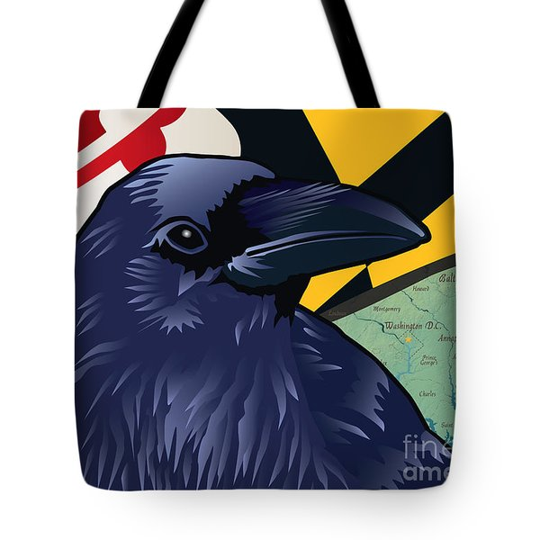 Maryland Citizen Raven Tote Bag