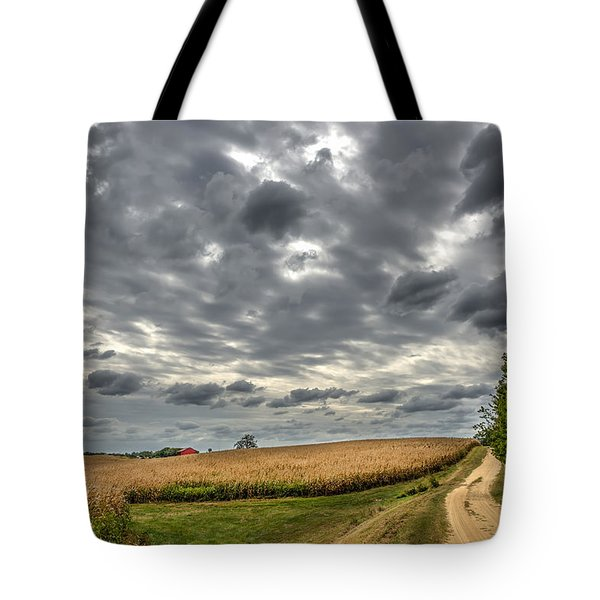 Maryland Country Road In Autumn At Twilight Tote Bag