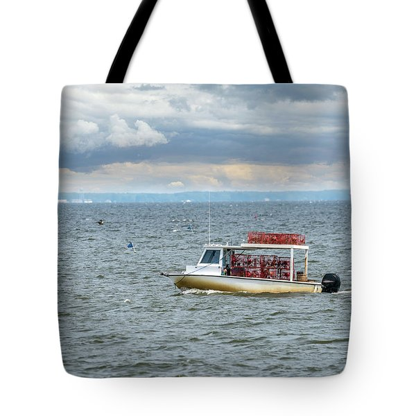 Maryland Crab Boat Fishing On The Chesapeake Bay Tote Bag
