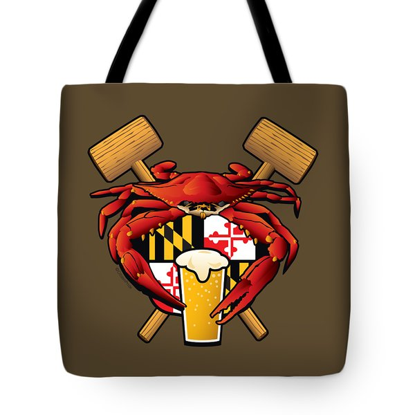 Maryland Crab Feast Crest Tote Bag