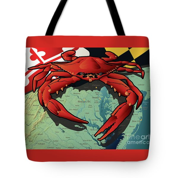 Maryland Red Crab Tote Bag
