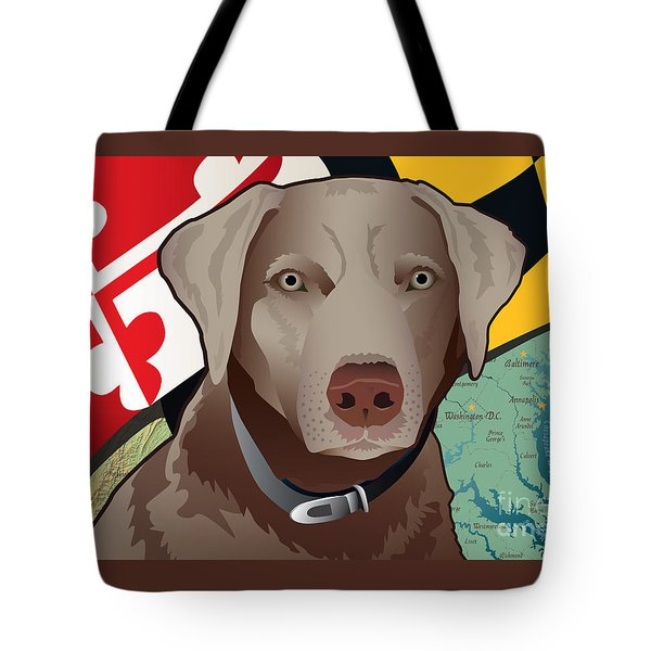 Maryland Silver Lab Tote Bag
