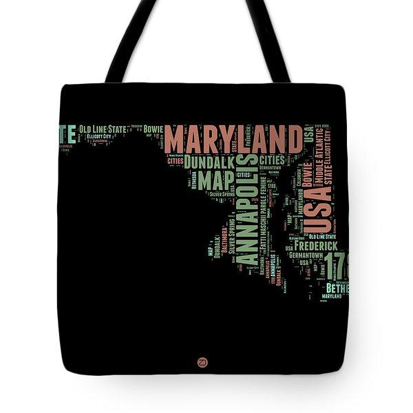 Maryland Word Cloud 1 Tote Bag