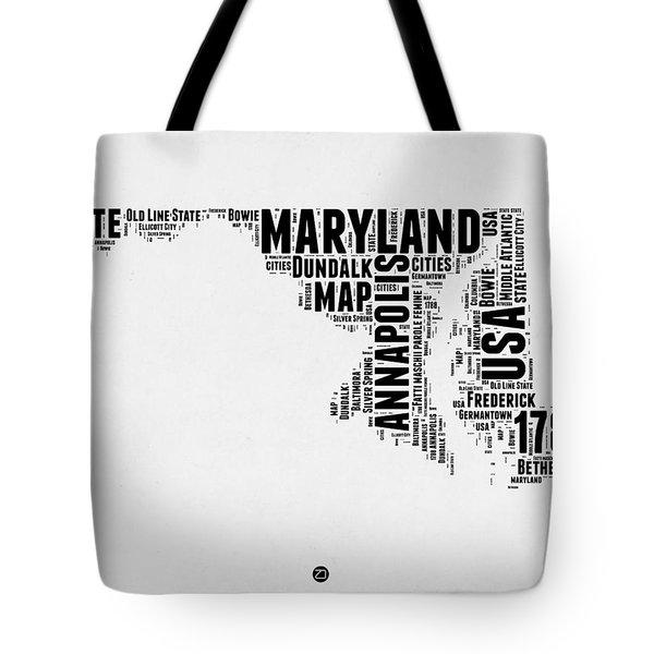 Maryland Word Cloud 2 Tote Bag