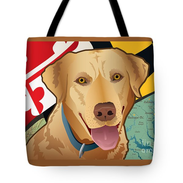 Maryland Yellow Lab Tote Bag
