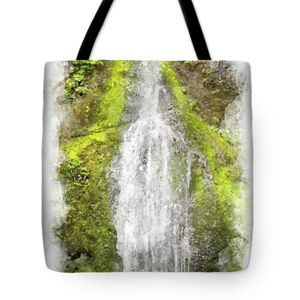 Marymere Falls Wc Tote Bag by Peter J Sucy