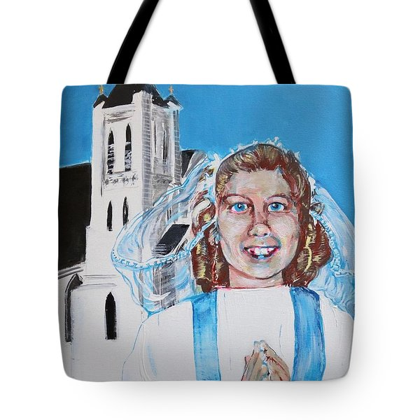 Mary's First Communion Tote Bag