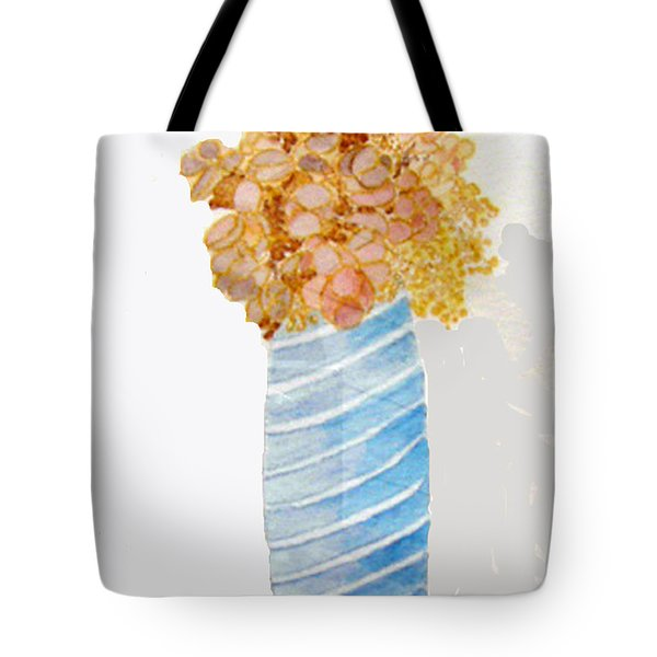 Tote Bag featuring the painting Mary's Flowers by Sandy McIntire
