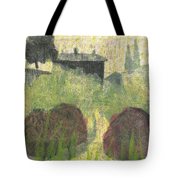 Tote Bag featuring the painting Mas En Provence by Martin Stankewitz