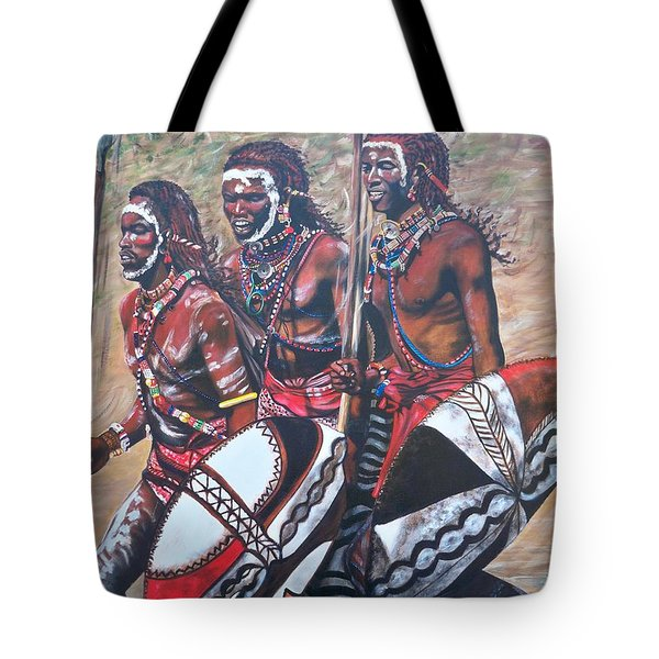 Masaai Warriors Tote Bag