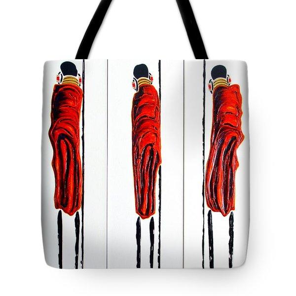 Masai Warrior Triptych - Original Artwork Tote Bag
