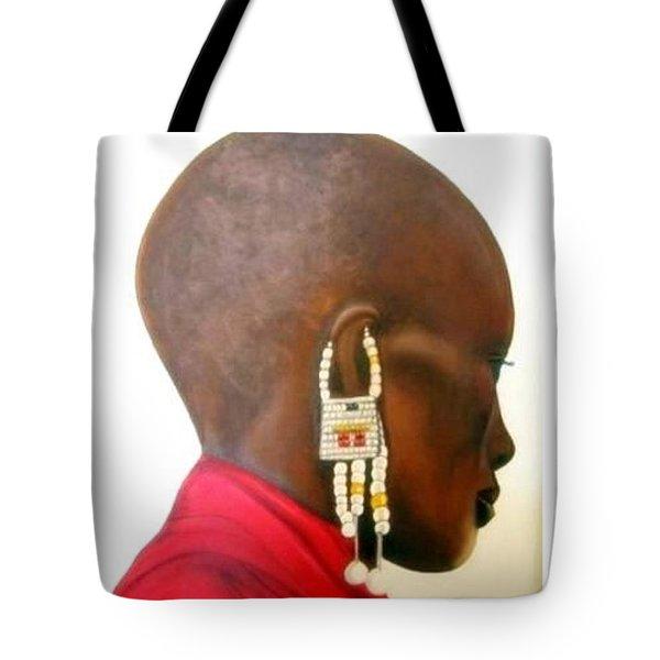 Masai Woman - Original Artwork Tote Bag
