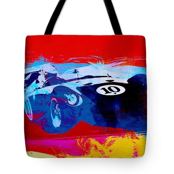 Maserati On The Race Track 1 Tote Bag by Naxart Studio