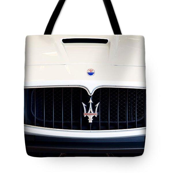 Maserati White Pano 121715 Tote Bag