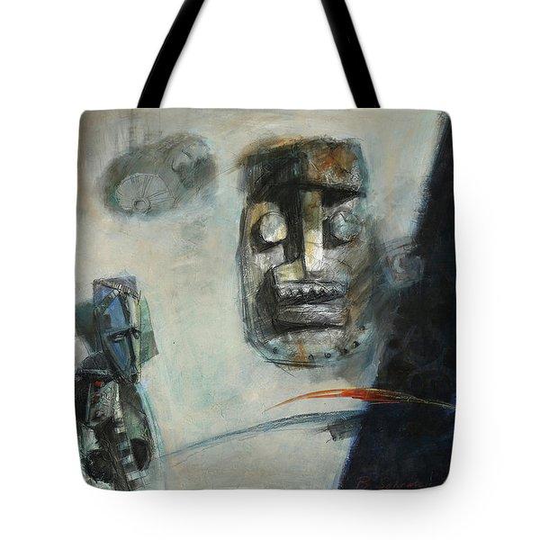 Symbol Mask Painting -02 Tote Bag by Behzad Sohrabi