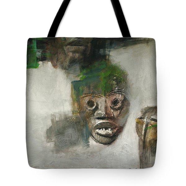 Symbol Mask Painting - 06 Tote Bag by Behzad Sohrabi