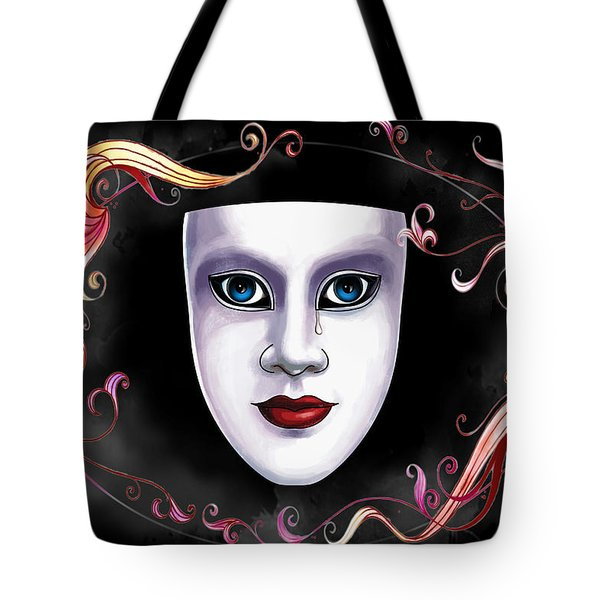 Mask And Vines Tote Bag