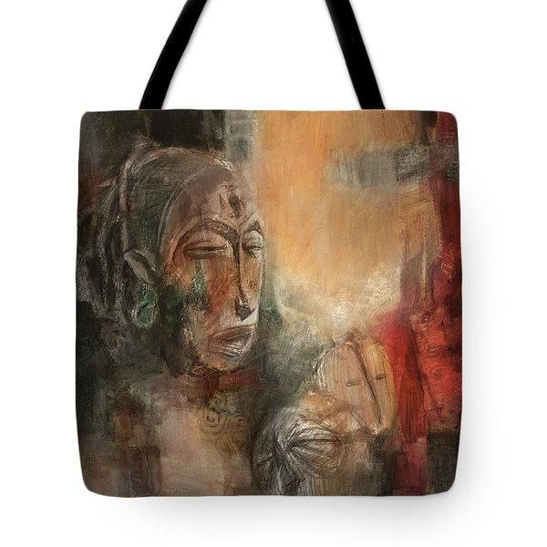 Symbol Mask Painting - 08 Tote Bag by Behzad Sohrabi