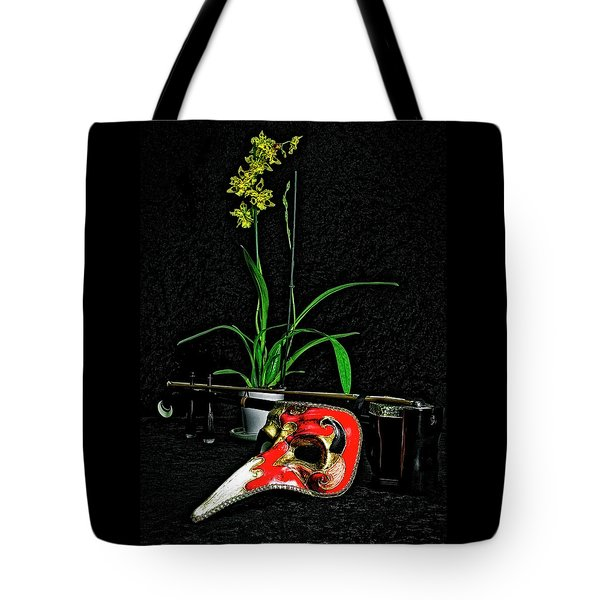 Mask For Pinnochio Tote Bag by Elf Evans