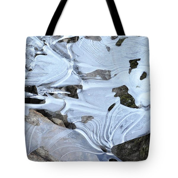 Ice Mask Abstract Tote Bag by Glenn Gordon